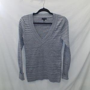 Express women's sweater size L silver metallic
